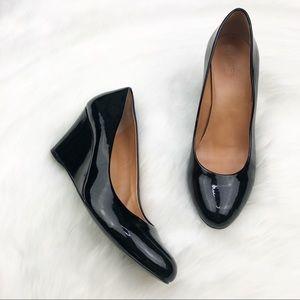 J. Crew Black Wedges Shoes